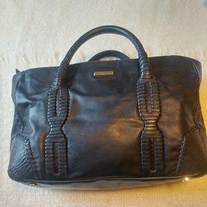 Rebecca minkoff johnny black leather western tote